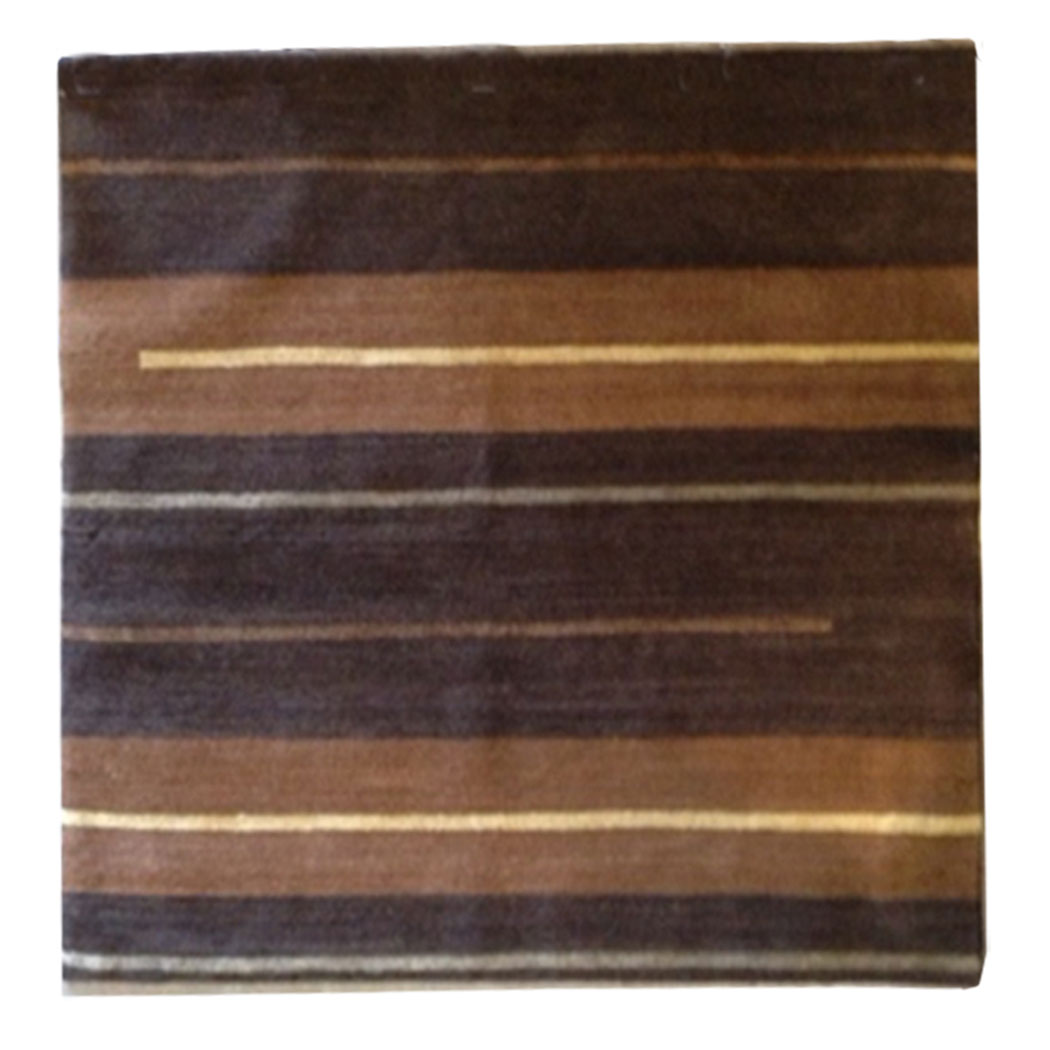Tufenkian Modern Brown Tan Ivory Caramel Wool And Silk Rug