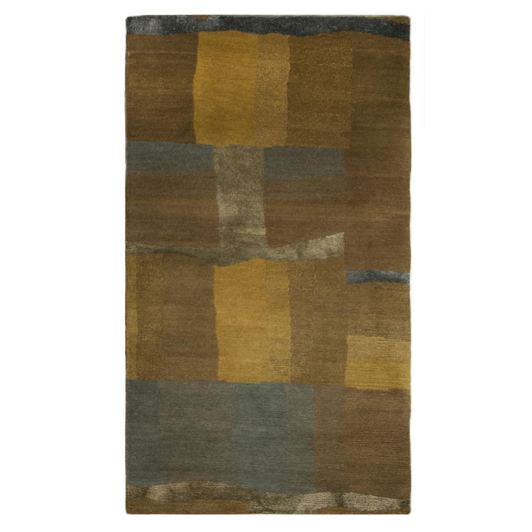Tufenkian Modern Green Gold Blue Wool Rug 10915 Andonian
