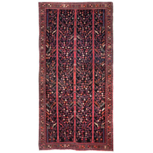 Iran Traditional Red Blue Wool Rug 4343
