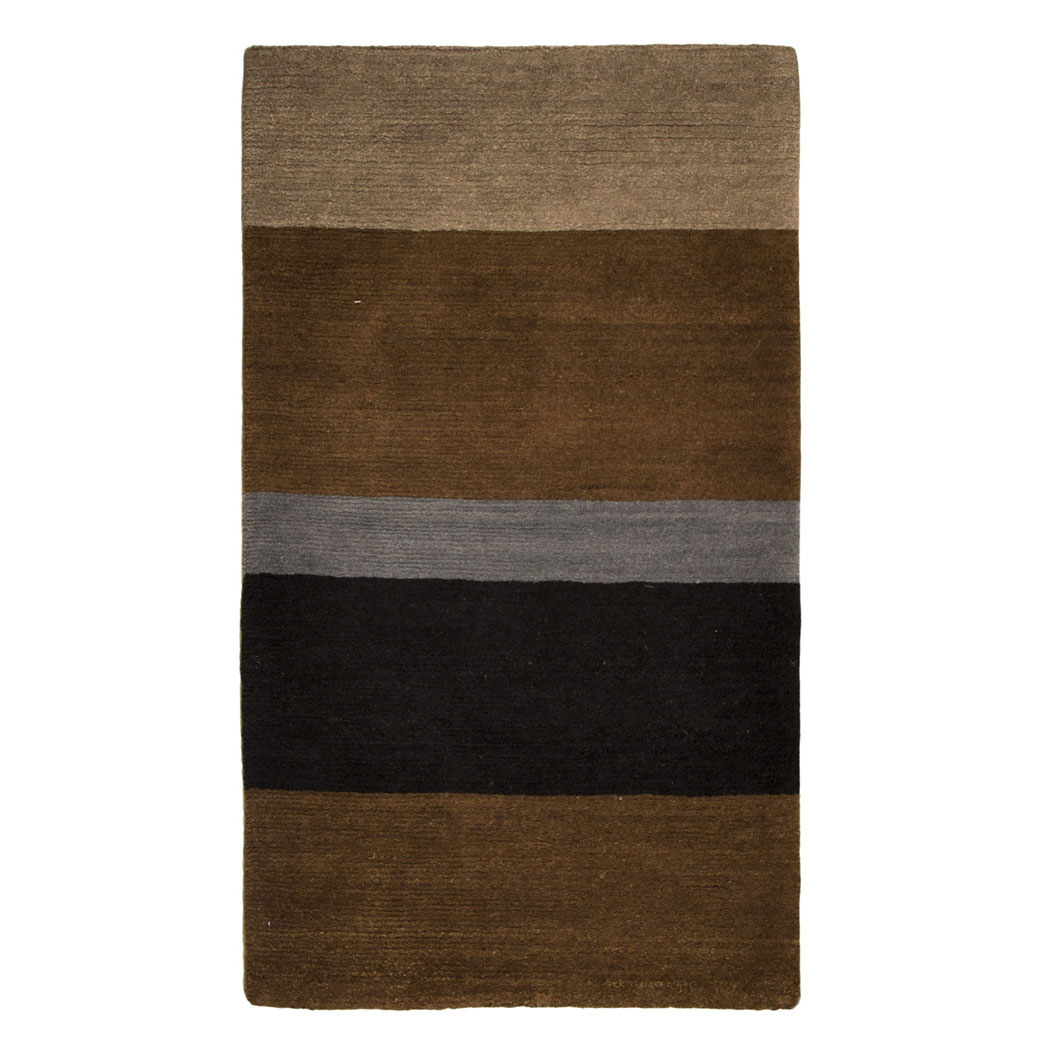 Tufenkian Modern Brown Black Blue Wool Rug 4410 Andonian