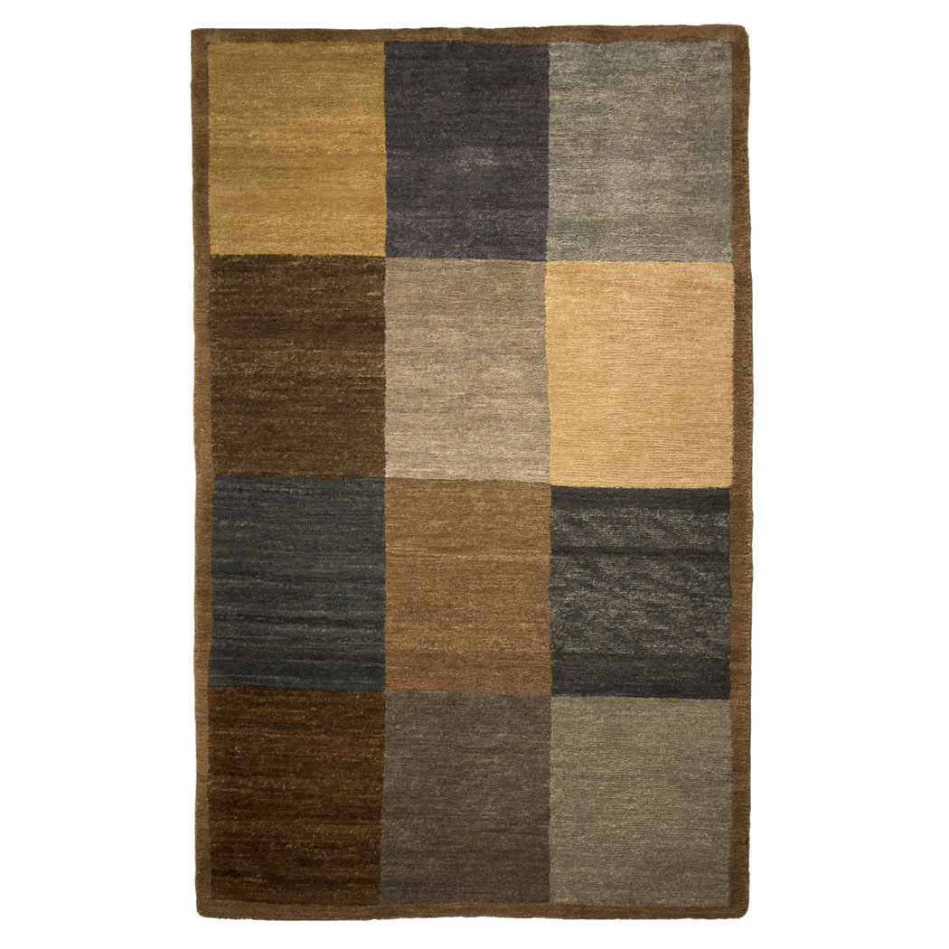 Tufenkian Modern Blue Tan Gray Wool Rug 4436