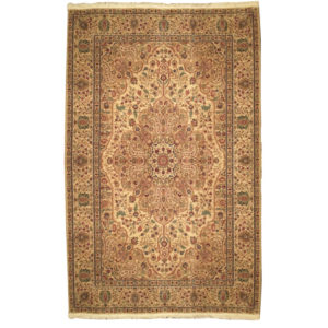 Karastan Traditional Gold Red Green Brown Wool Rug 4646