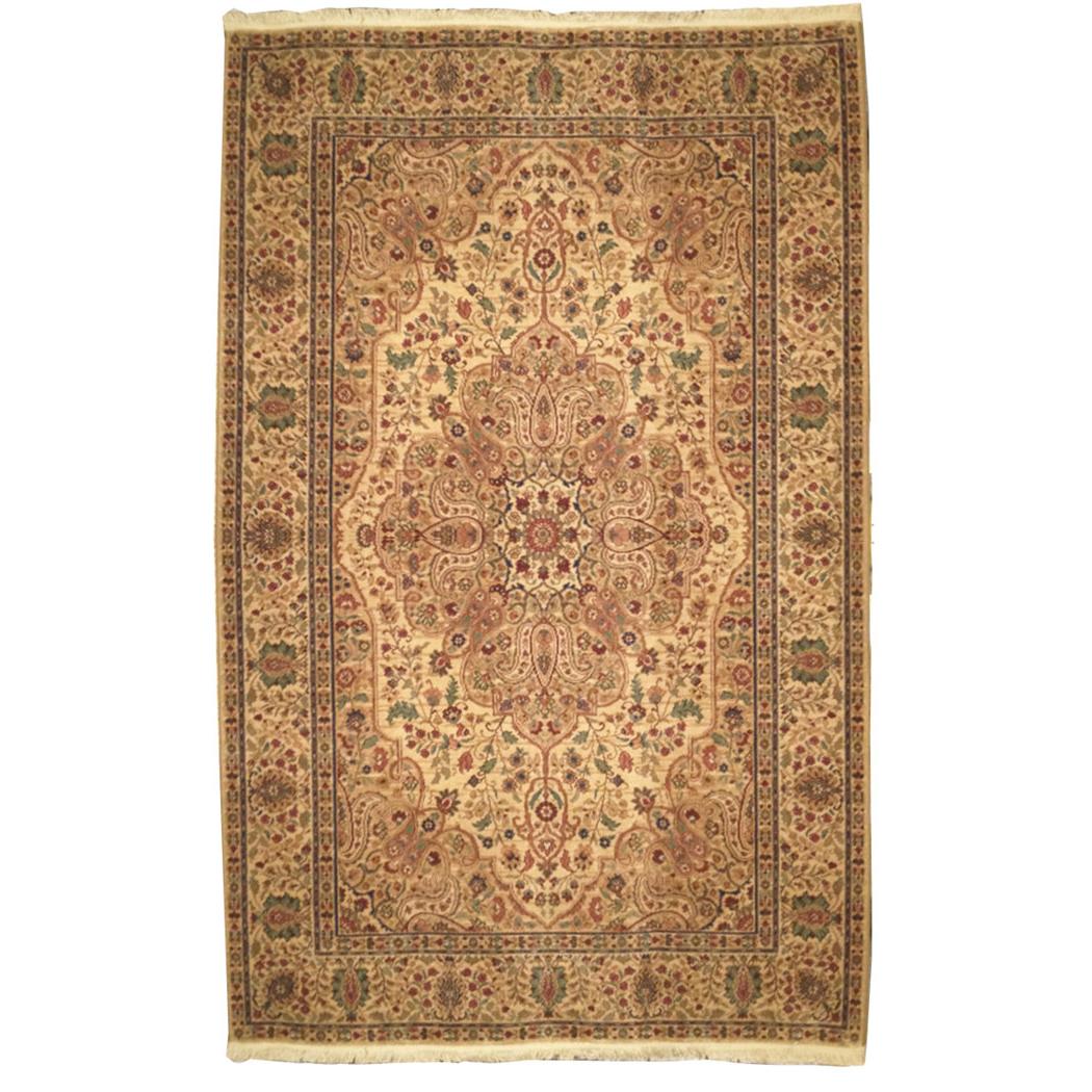Karastan Traditional Gold Red Green Brown Wool Rug 4646