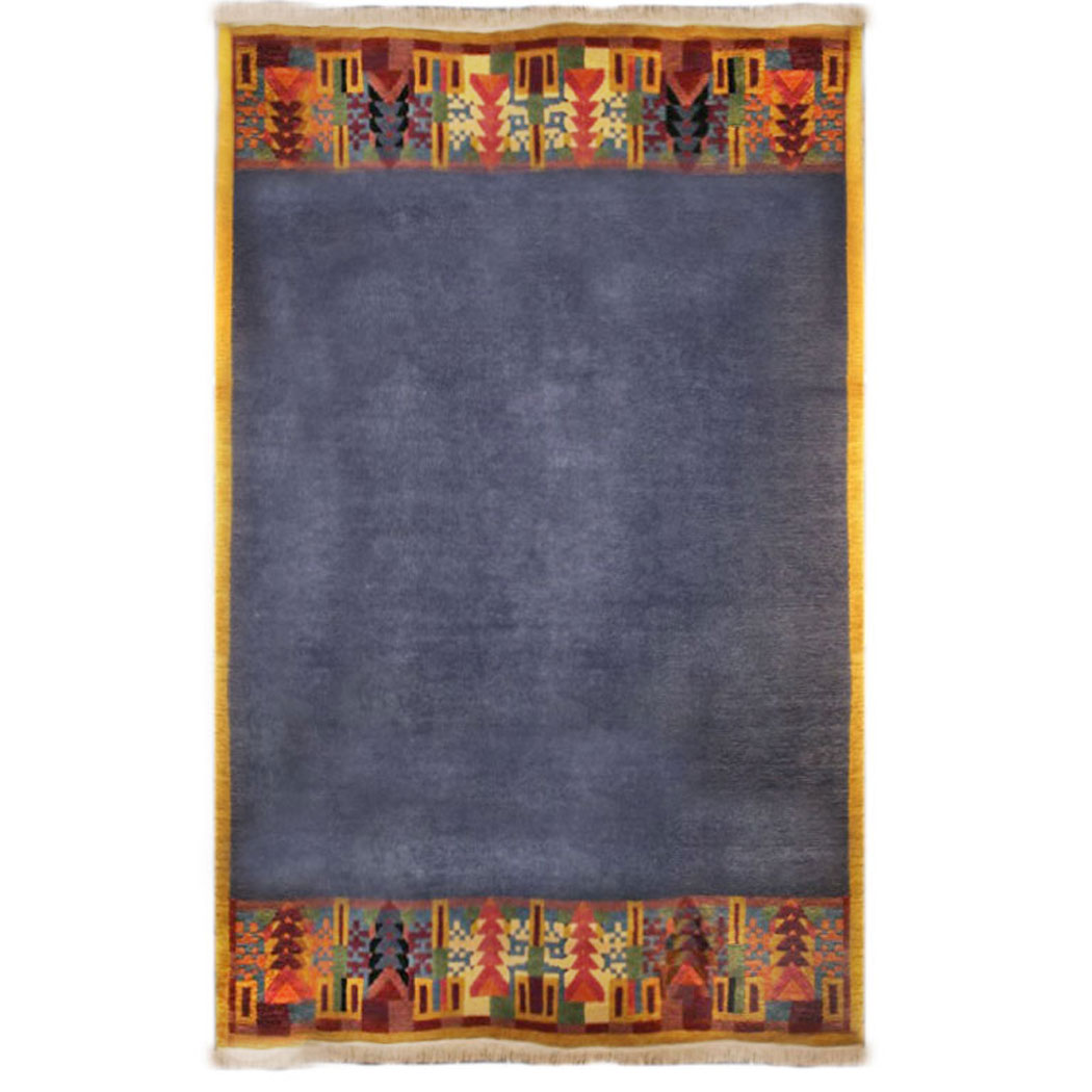Tufenkian Modern Blue Mulit Colored Wool Rug 5055
