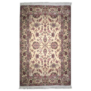 Karastan Traditional Ivory Gold Red Wool Rug 5140
