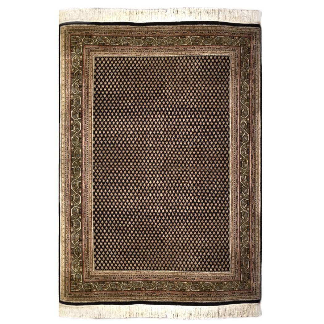 Mir Traditional Tan Black Green Wool Rug 5272 Andonian