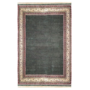 Mir Traditional Green Tan Red Wool Rug 5277