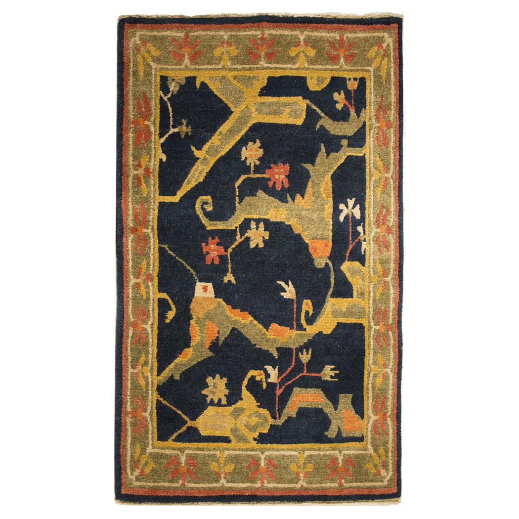 Vintage Rug Seattle: Tufenkian Transitional Black Green Gold Wool Rug 5641