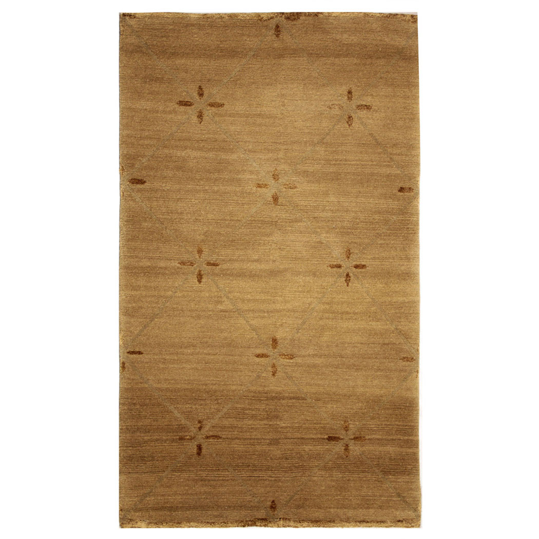 Tufenkian Modern Tan Brown Wool And Silk Rug 6625