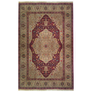 Karastan Traditional Red Gold Green Wool Rug 6694