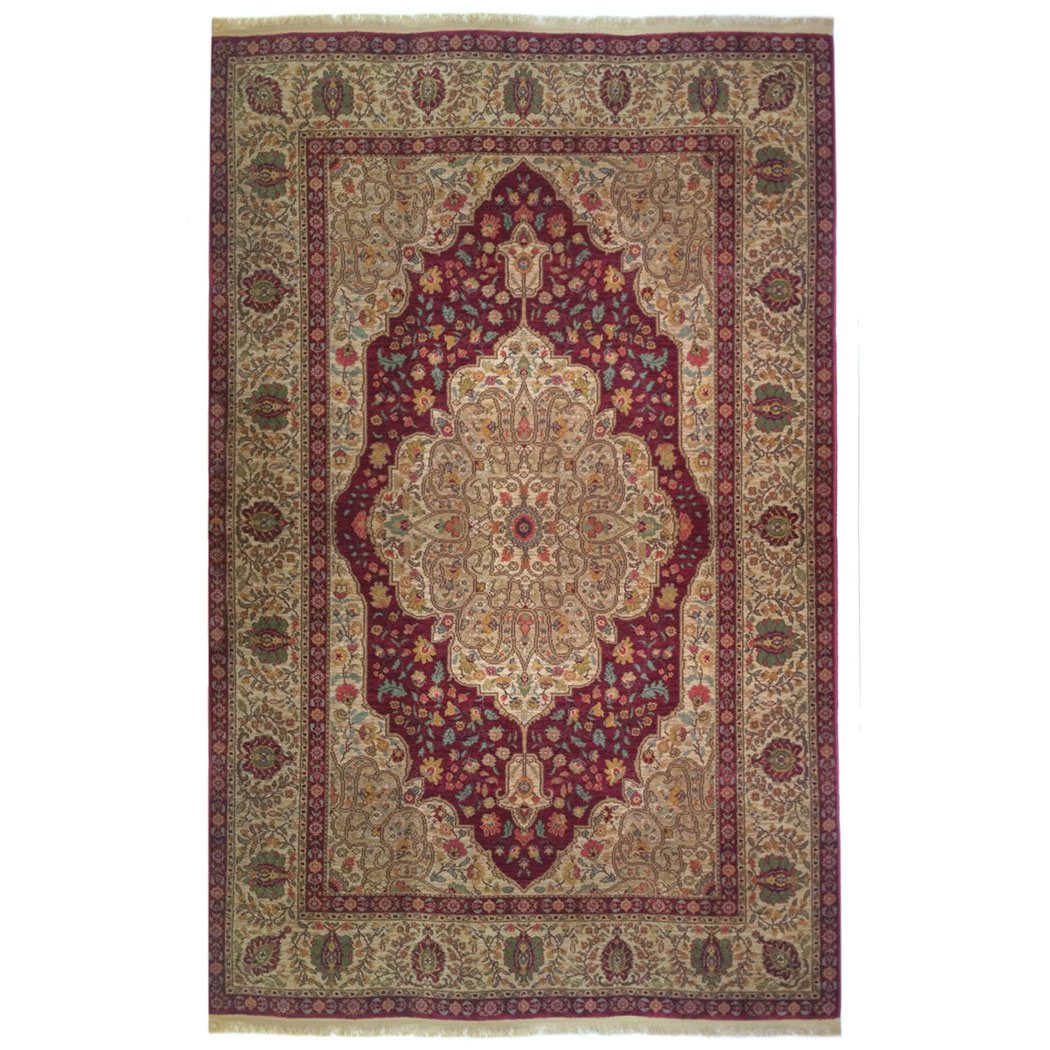 karastan traditional red gold green wool rug 6694 | andonian rugs