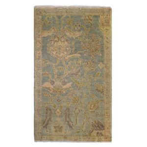 Tufenkian Traditional Gold Blue Green Wool Rug 6763