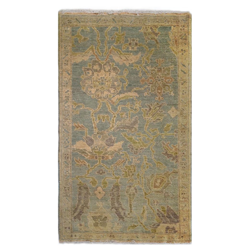 Tufenkian Traditional Gold Blue Green Wool Rug 6763