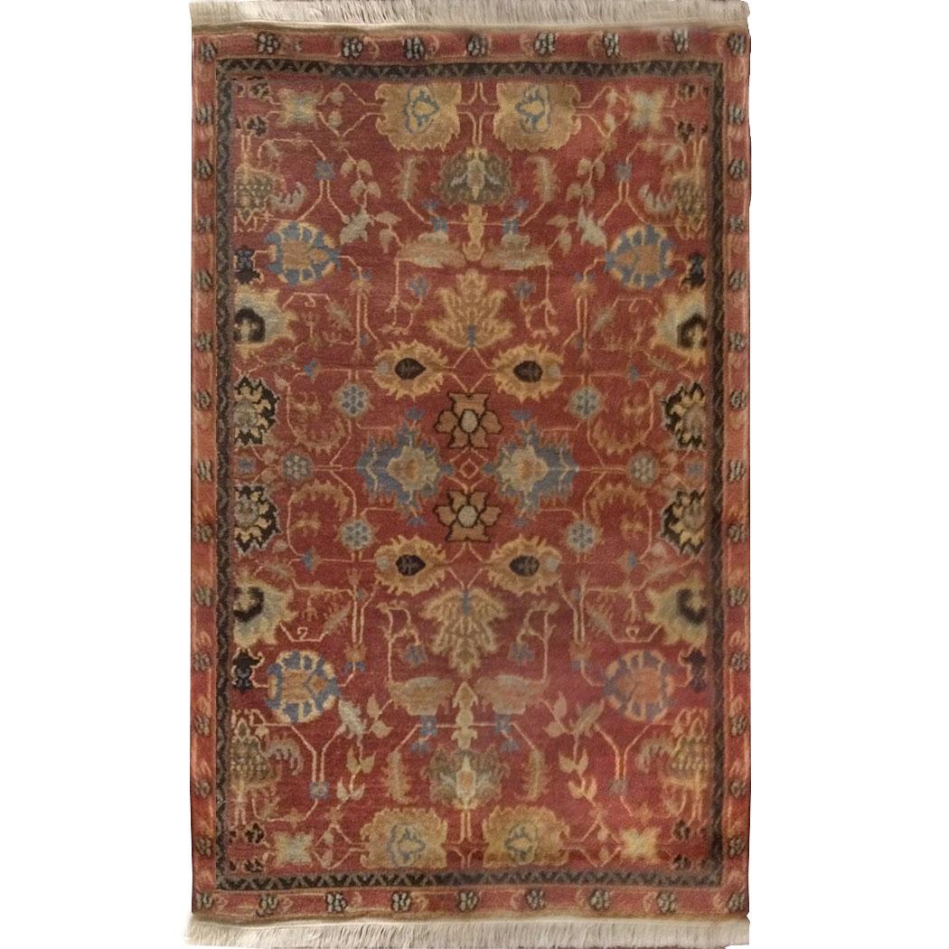 Tufenkian Traditional Rust Blue Black Tan Wool Rug 7239