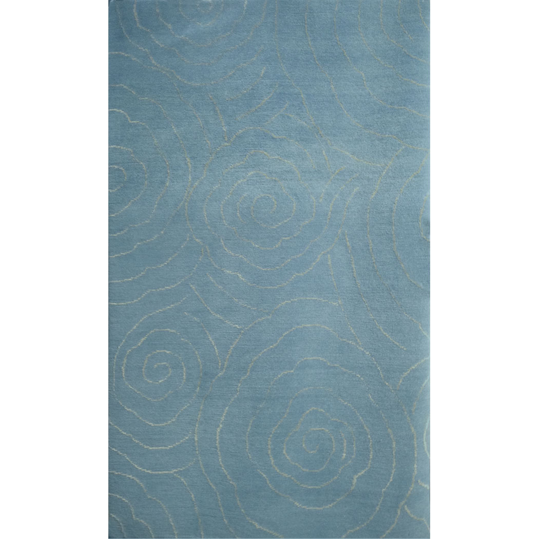 Tufenkian Modern Blue Wool And Silk Rug 7248 Andonian