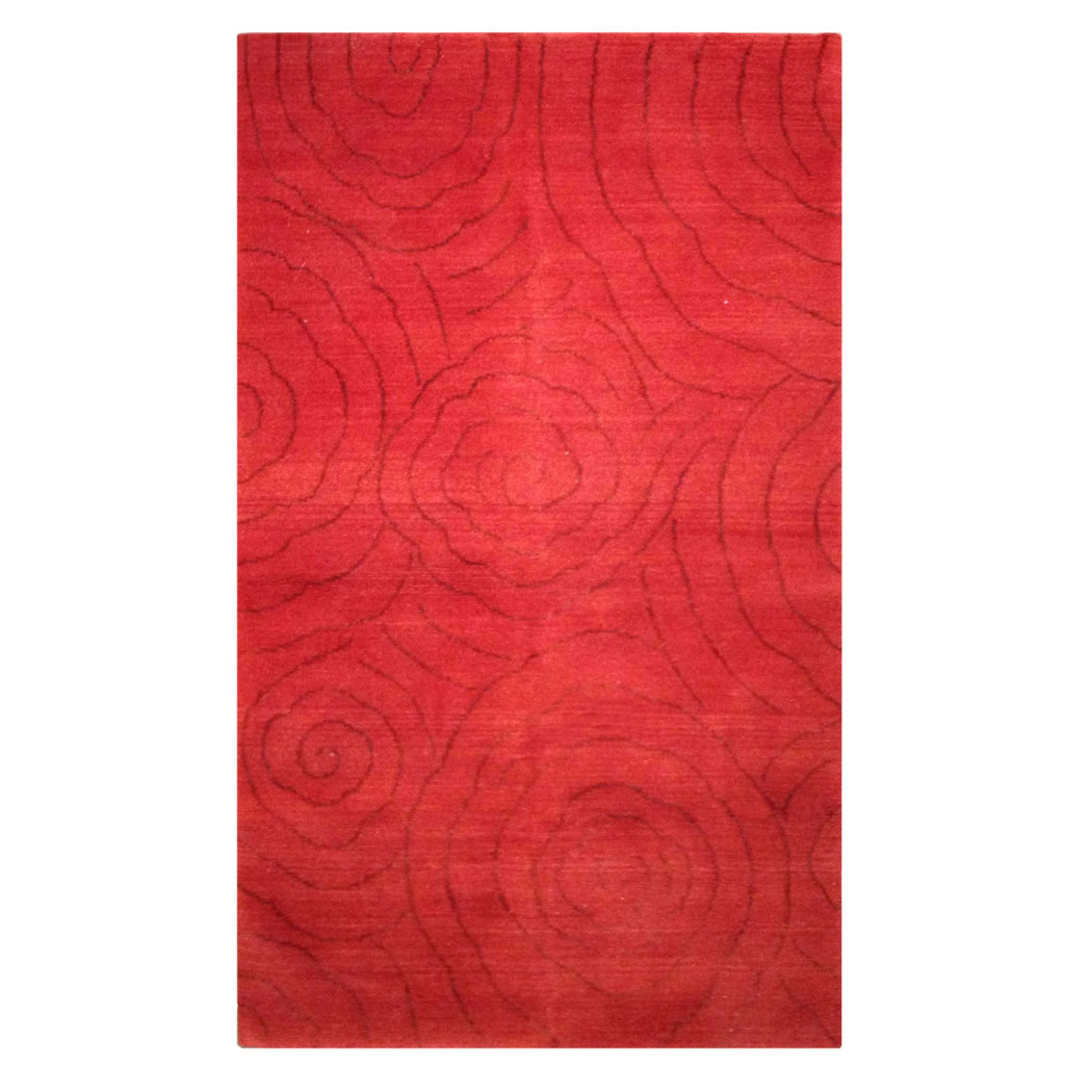 Tufenkian Modern Red Wool And Silk Rug 7313 Andonian