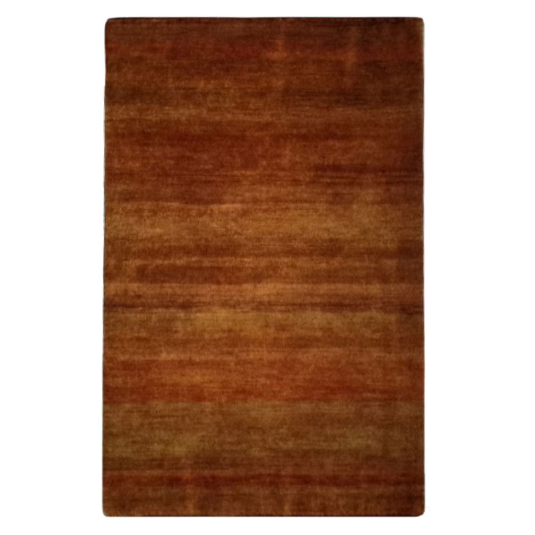 Two Roses Modern Red Orange Gold Wool Rug 7812 Andonian