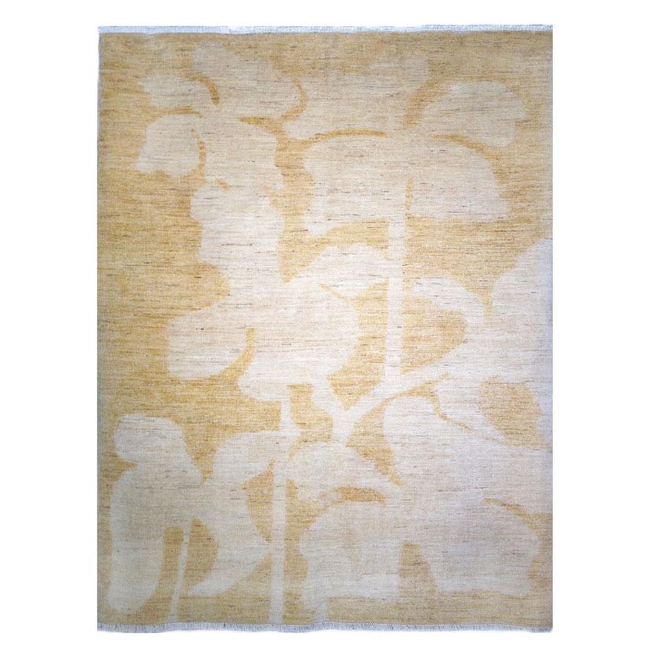 Vintage Rug Seattle: Sartori Modern Gold Ivory Wool Rug 7959