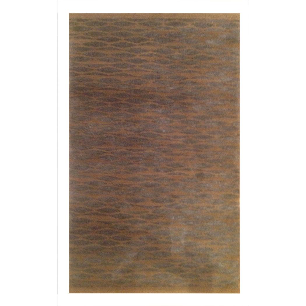 Tufenian Modern Gray Brown Wool And Silk Rug 7990
