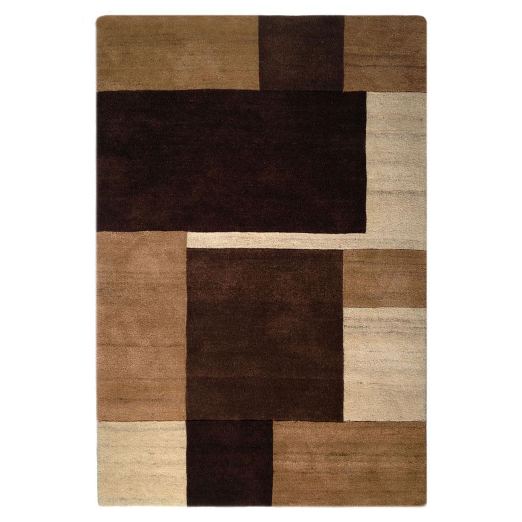Sartori Modern Brown Tan Wool And Silk Rug 8005