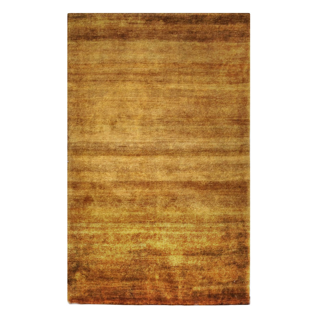 Two Roses Modern Brown Gold Wool Rug 8117 Andonian Rugs