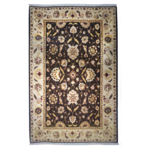 Karastan Traditional Brown Ivory Gold Wool Rug 8130