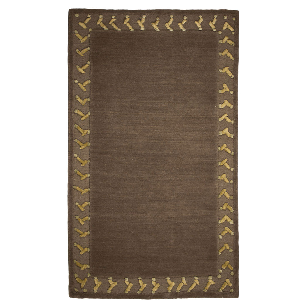 Tufenkian Modern Brown Green Gold Wool Rug 8357 Andonian