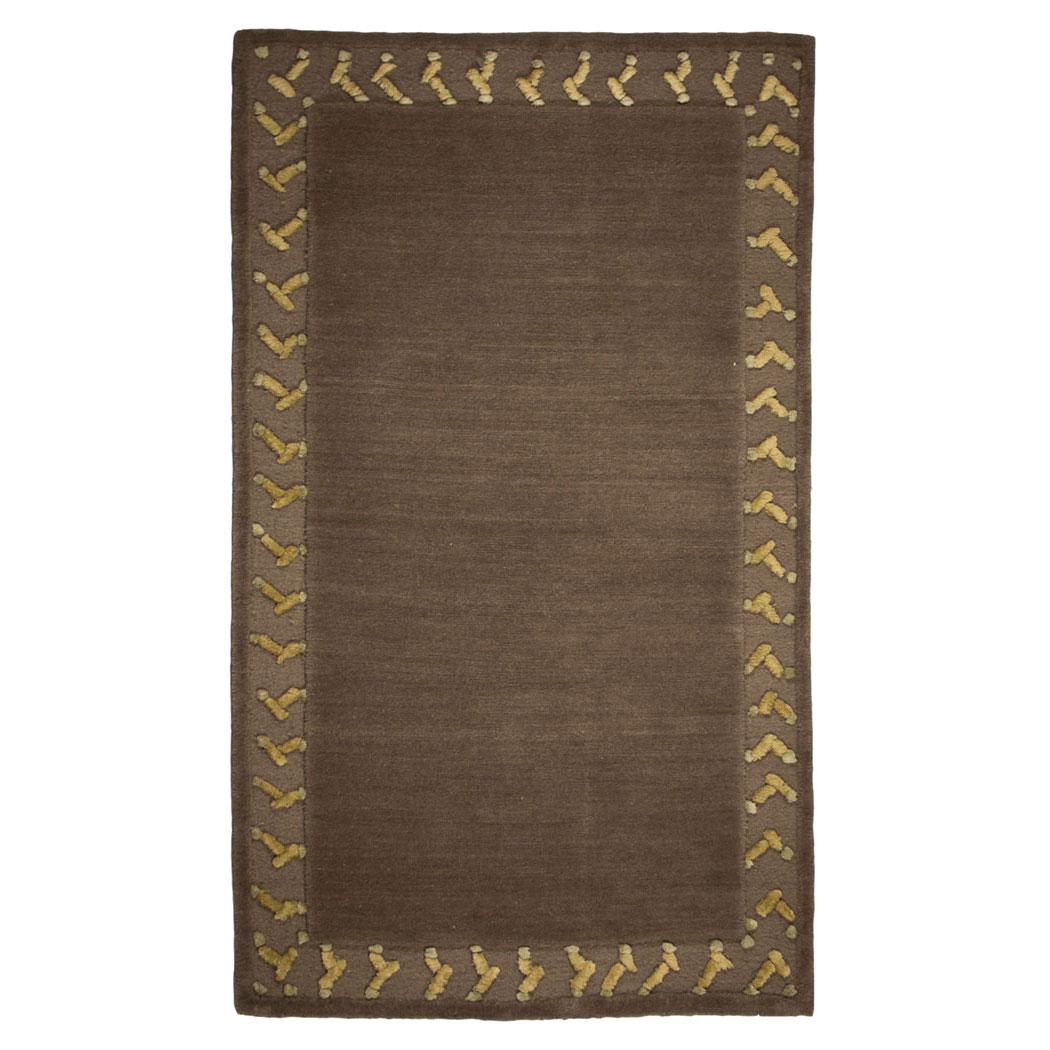 Tufenkian Modern Brown Green Gold Wool Rug 8357 Andonian