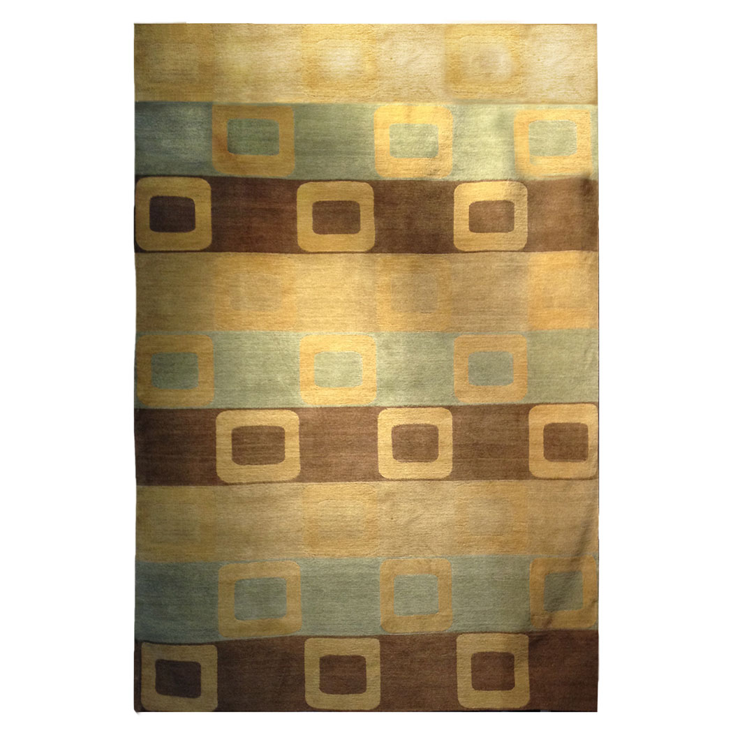 Tufenkian Modern Gold Green Brown Wool Rug 8453 Andonian