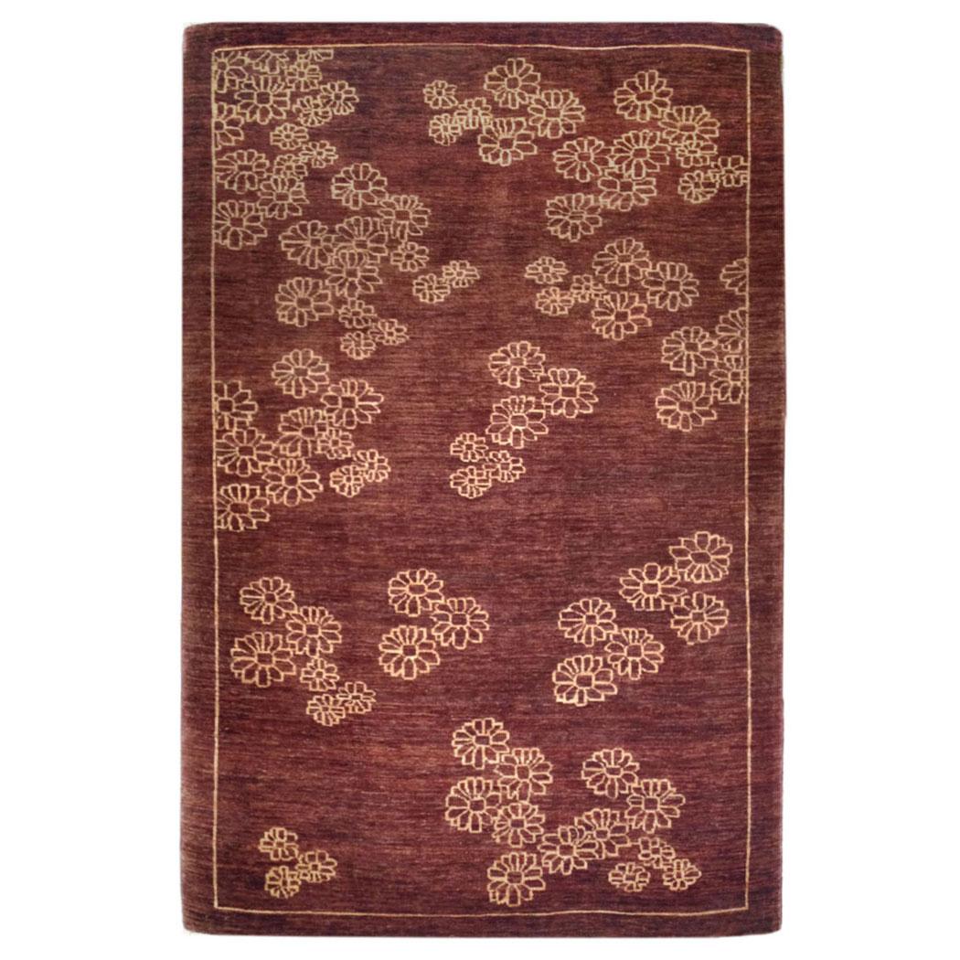 Vintage Rug Seattle: Sartori Modern Brown Tan Wool Rug 8536