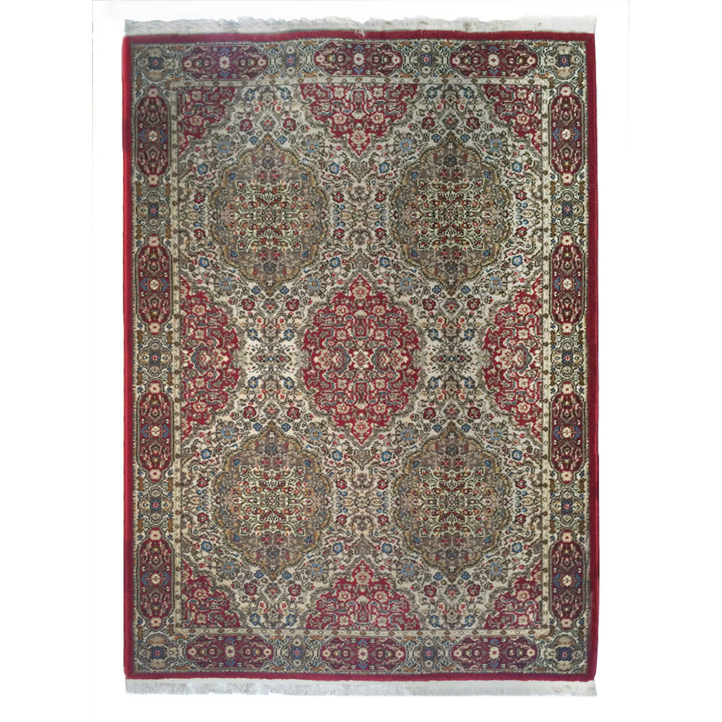 Karastan Traditional Red Green Blue Wool Rug 9446