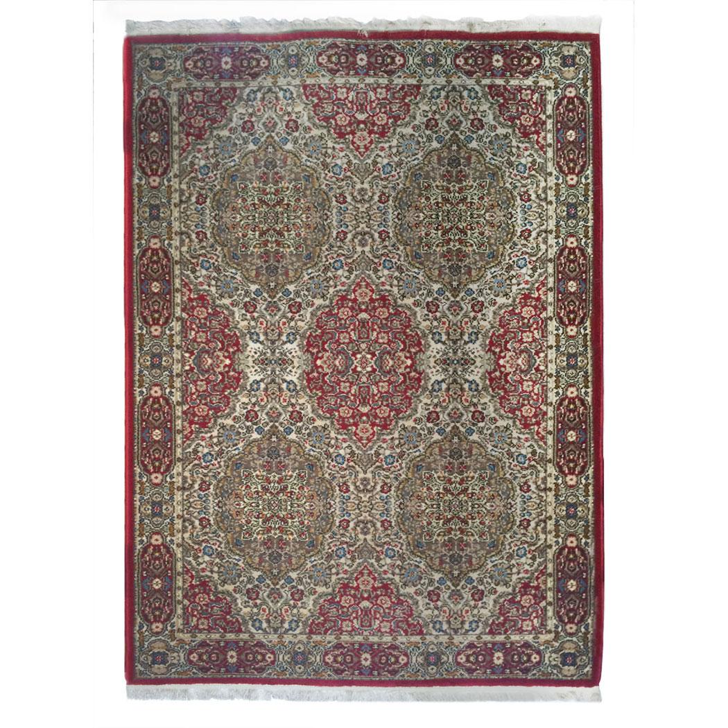 Karastan Traditional Red Green Blue Wool Rug 9446